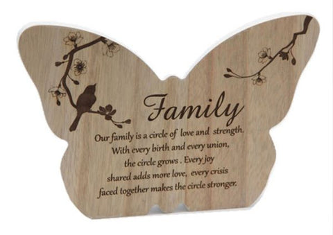 Butterfly Plaque Family