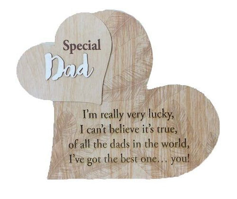 Heart Dad Plaque 17.6 x 15cm