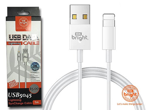 Lightening USB Charging Cable 1m