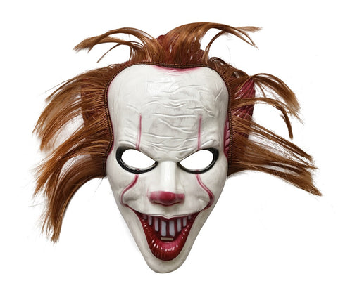 Killer Clown Mask with Hair