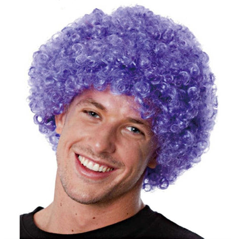 Afro Wig Purple