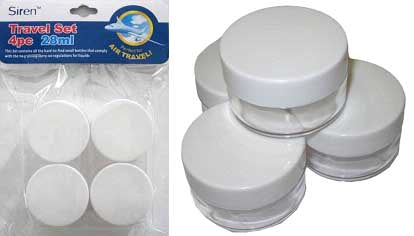 Travel Containers 28ml 4pc