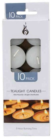 Tealight Candles 10pk 9 hour
