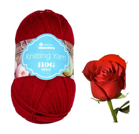 Knitting Yarn 110G Red