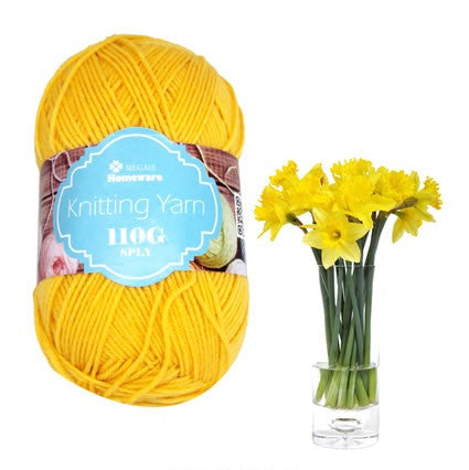 Knitting Yarn 110G Yellow