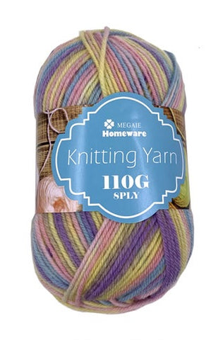 Knitting Yarn Multi-Tone 110g 8ply S1