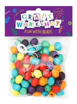 Craft Beads Colour Threading 100pc