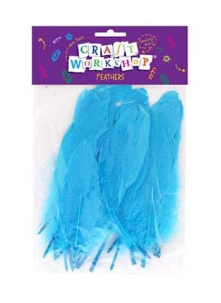 Craft Feathers Blue large