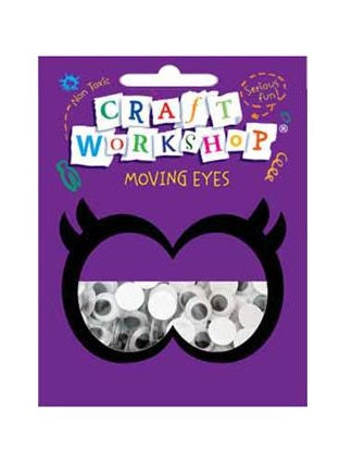 Craft Moving Eyes 100pc x 10mm