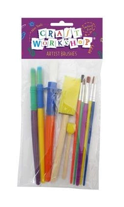 Craft Assorted Paint Brushes 10pc