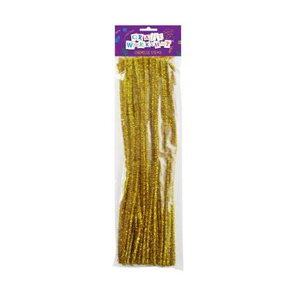 Craft Chenille Stems Gold 40pc