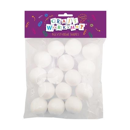 Craft Polystyrene Ball 35mm 15pcs