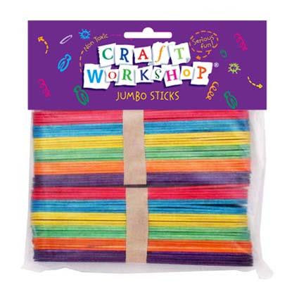 Popsicle Sticks Jumbo Coloured