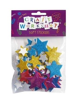Craft Soft Stickers Stars 80pcs