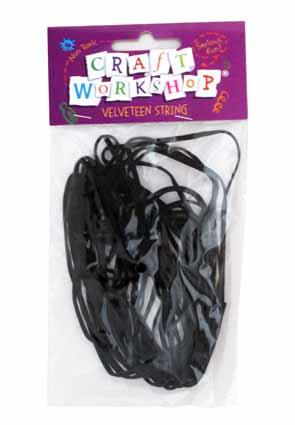 Craft String Velveteen Black 7m