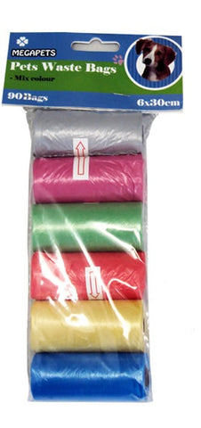Pet Waste bags Coloured 90pc
