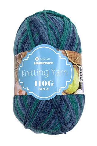 Knitting Yarn Multi-Tone 110g 8ply S10
