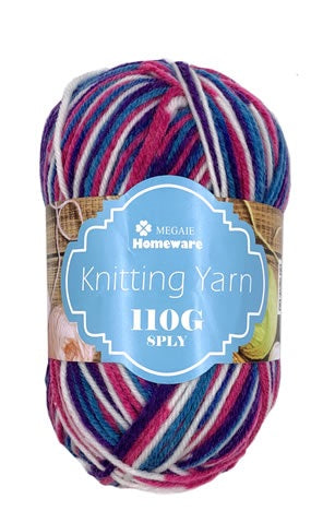 Knitting Yarn Multi-Tone 110g 8ply S37