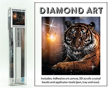 Diamond Art Kit 5D 30x30cm Tiger