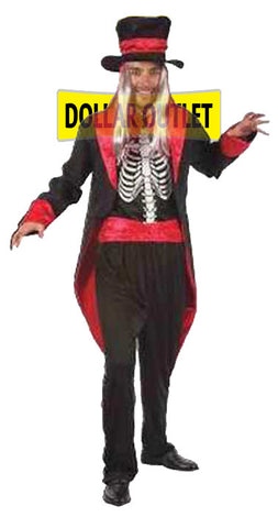 Skeleton Suit Halloween Costume