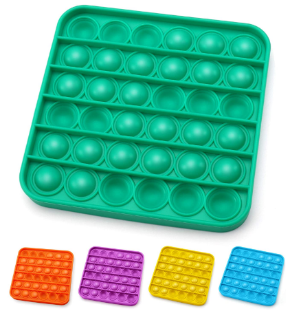 Pop Fidget Square Assorted Colours