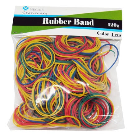 Rubber Bands Coloured 40mm x 1.4mm 120g