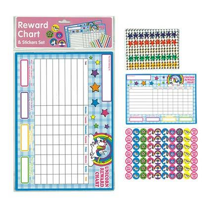 Reward Chart Unicorns 29.6x21cm