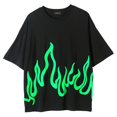 T-shirt Billie Eilish flamme verte