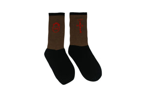 "Travis Scott Socks ""Brown"""