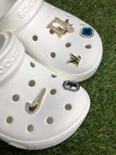"Load image into Gallery viewer, ""LV Mini Gold"" Jewel Croc Charm"