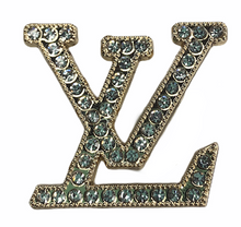 "Load image into Gallery viewer, ""LV Gold"" Jewel Croc Charm"