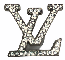 "Load image into Gallery viewer, ""LV Silver"" Jewel Croc Charm"