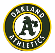 "Load image into Gallery viewer, ""Oakland A's"" Croc Charm"