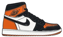 "Load image into Gallery viewer, ""Shattered"" Jordan 1 Enamel Pin"