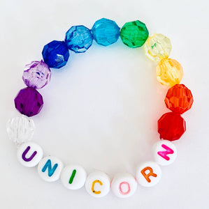 Sadie's Moon - Unicorn Rainbow Beaded Bracelet