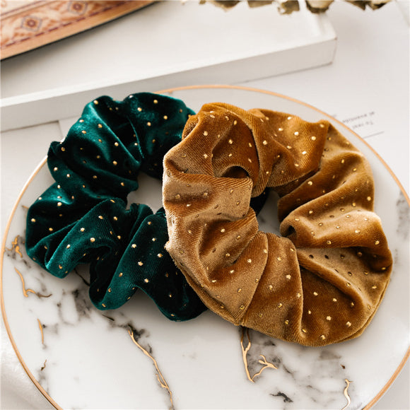 Scrunches Hair Band - Gold dots