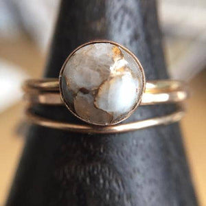 Copper Calcite Large Ring (Goldfill)
