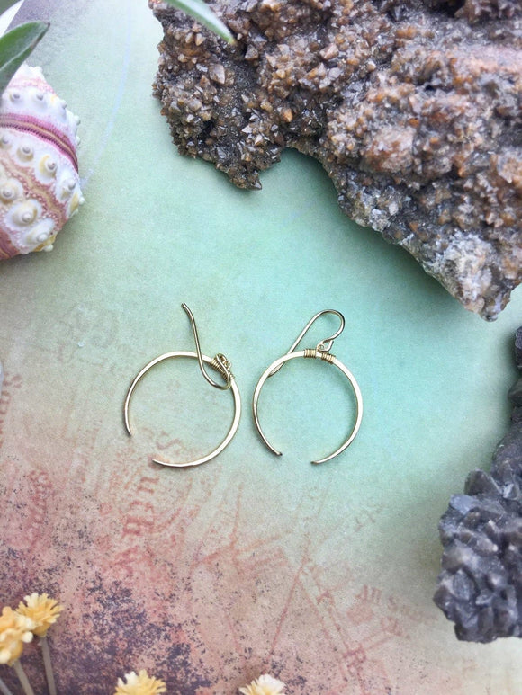 Crescent Earrings Small - 14k Gold Fill