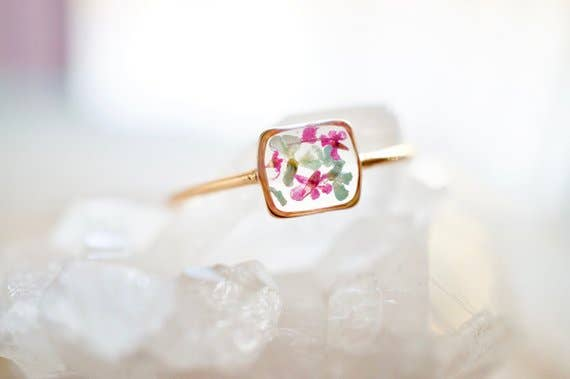 Gold Band in Mint and Pink