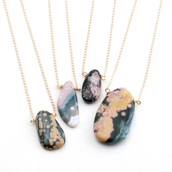 Ocean Jasper Raw Short Necklace