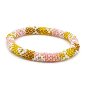 Elegant Pink With Gold Bracelet