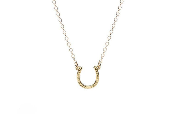 Lucky Horseshoe Necklace - 14k gold filled