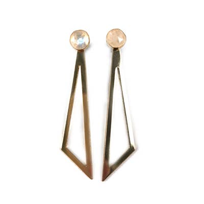 14k gold fill Slice Moonstone Earrings