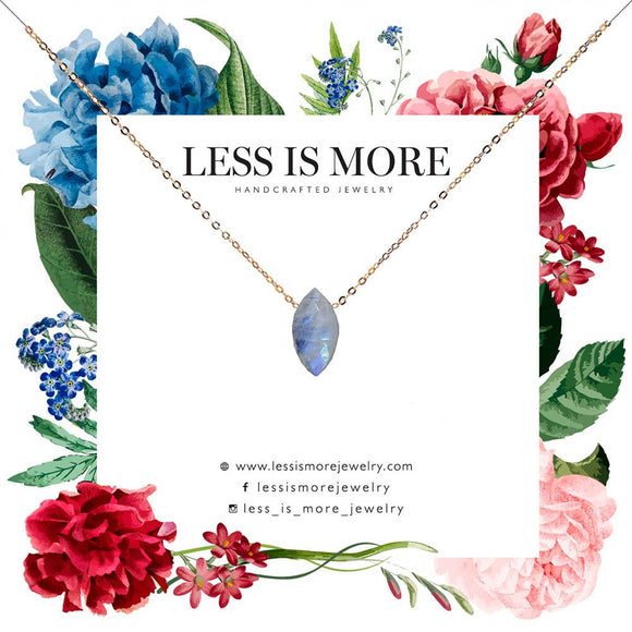 Less is More - Marquise Moonstone Necklace