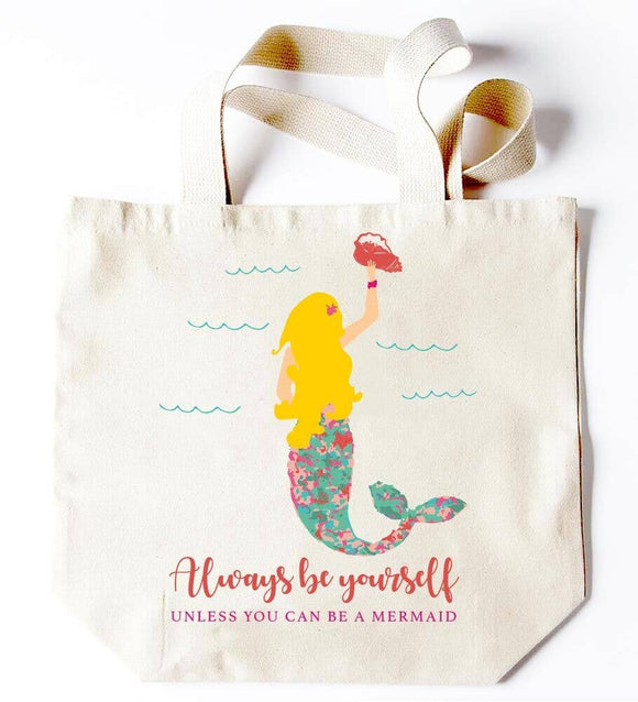 Always Be Yourself Mermaid Tote