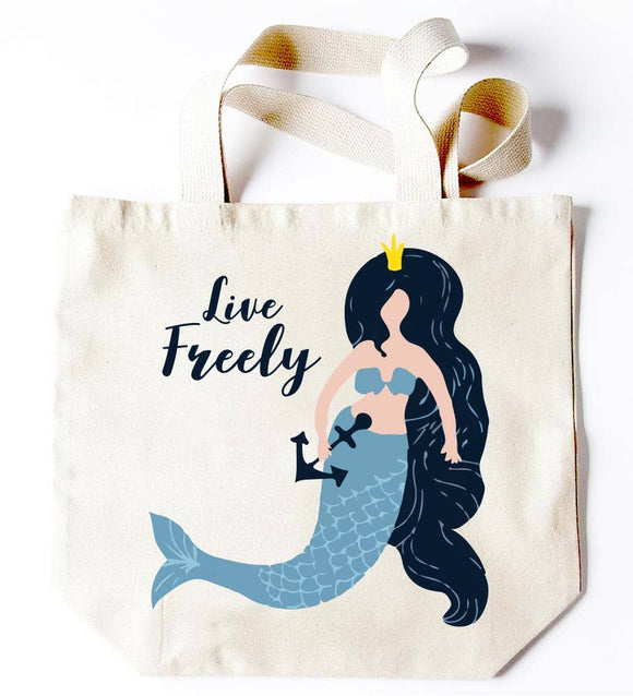 Mermaid Live Freely Tote
