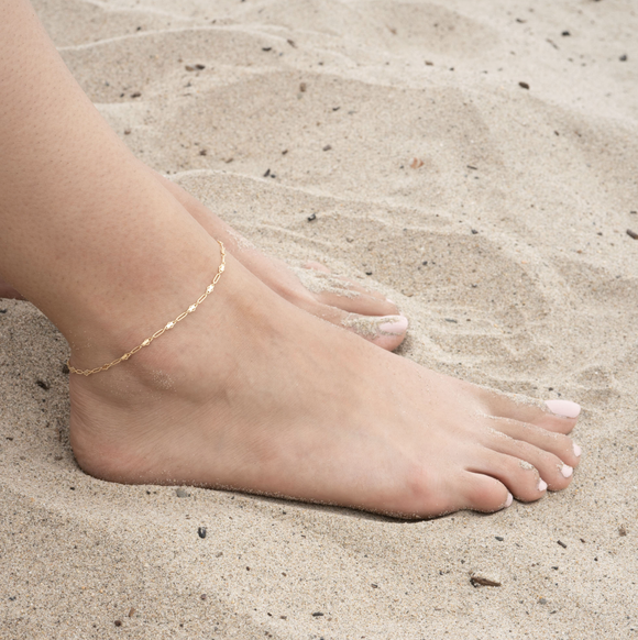 Gold Filled Lilac Anklet