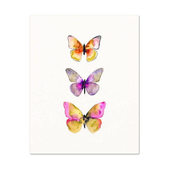 Snoogs & Wilde Art - Watercolor Butterflies #5 ~ Art Print