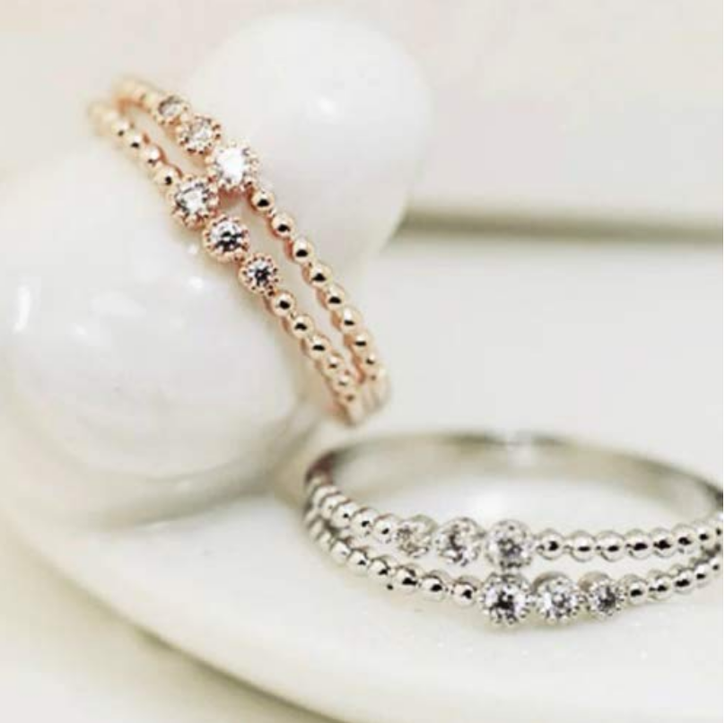 Solid Silver Ring - Double Band