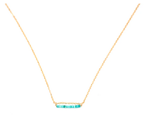 14k Gold Filled Turquoise Necklace